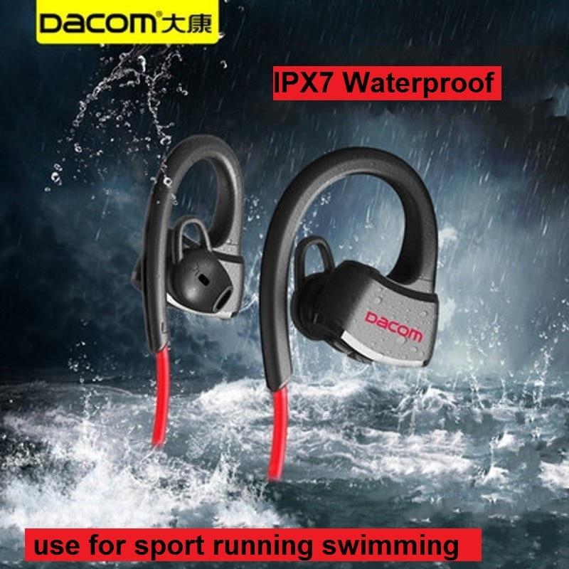 Dacom P10 auricular Bluetooth IPX7 impermeable inalámbrico deporte Correr auriculares estéreo de música auriculares manos libres W/MIC para Natación