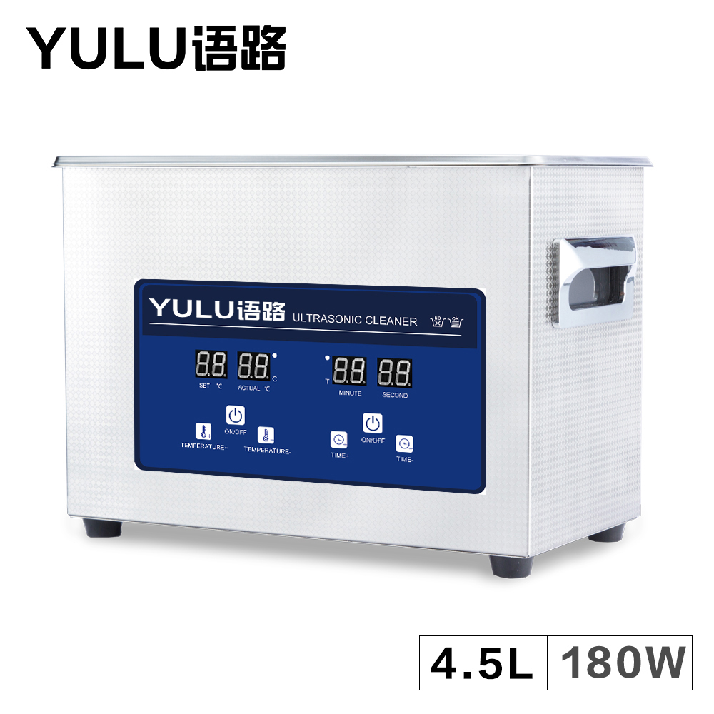 4.5L Digital Ultrasonic Cleaner Bath Auto Car Parts Oil Hardware Washing Instrument 6L Dental Heater Tanks Lab Timer Injectors 15l stainless steel digital ultrasonic cleaner with timer and heater including washing basket
