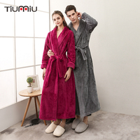 Super Soft Winter Warm Long Bath Robe Lovers Kimono Thickening Bathrobe Women Men Dressing Gown Wedding Bridesmaid Robes