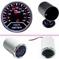 """EE support Car Motor Universal Smoke Len 2"""" 52mm Volt Voltage Gauge Meter + 52mm Black Pod Holder XY01"""
