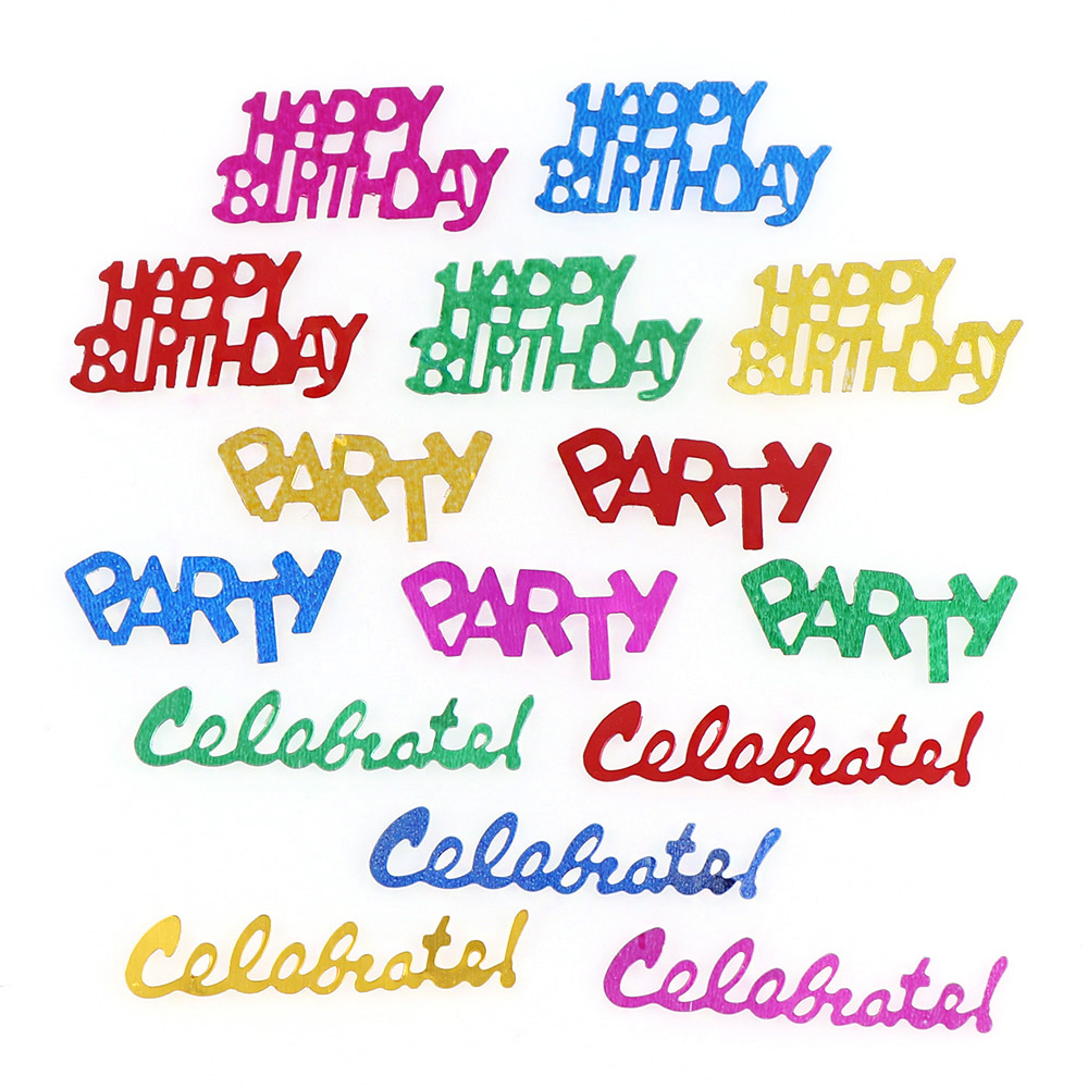 15g Multi Colors Happy Birthday Barty Confetti Wedding Party Scatters Table Decoration Age Birthday Party Wedding Decor Supplies