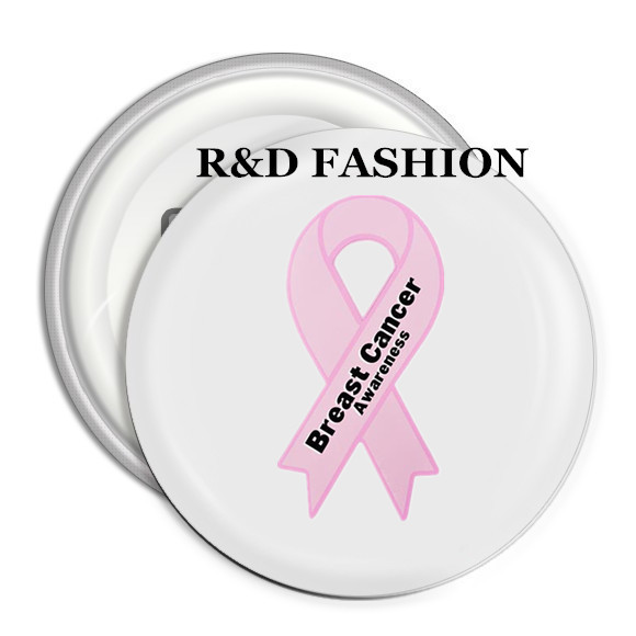 US $27 55 5% OFF|PBR062(30), Promotional Gift Breast Cancer Awareness  Campaign Pink Ribbon Brooch Pin/Badge Cancer Button Sayings-in Brooches  from