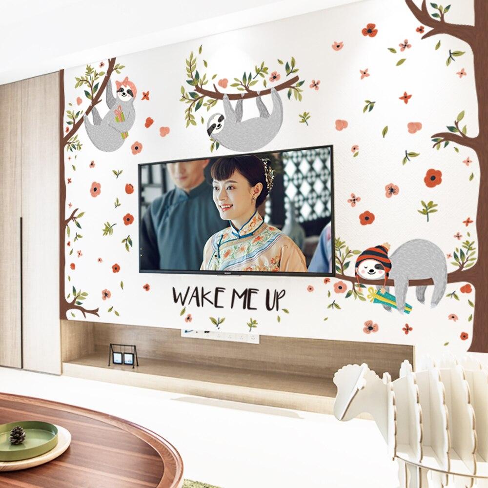 Cartoon koala Wall Stickers For living room Decoration DIY Removable ...