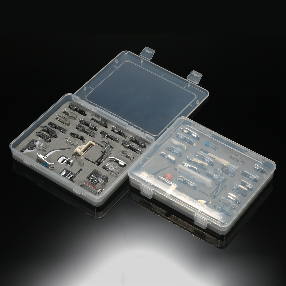 52 pcs Domestique Machine À Coudre Pied Presseur Kit pour Chanteur Feiyue Janome Frère Machine À Coudre Accessoires avec la Boîte À Coudre Outil