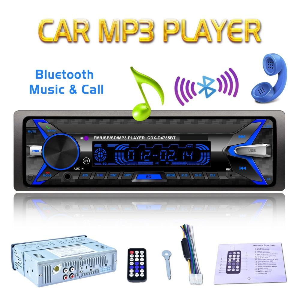 Bluetooth Front Detachable Panel Autoradio Stereo Car MP3 Audio Player 12V In-dash 1 Din FM Radio Aux-In Receiver SD USB MMC WMA