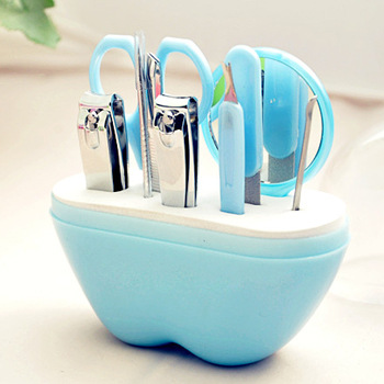 9pcs Apple Nail Set Stainless Steel Nail Set of beauty tools mini epilator tweezers pinzas cejas pincet eyebrow plucking DM101