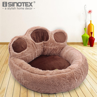 Bear Paw Shape Pet Dog Cat Puppy Bedding Bed Sofa Short Plush Warm Soft Breathable Durable
