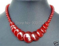 Free Shipping>>bBeautiful! Red stone Beads  Jewelry Necklace 17
