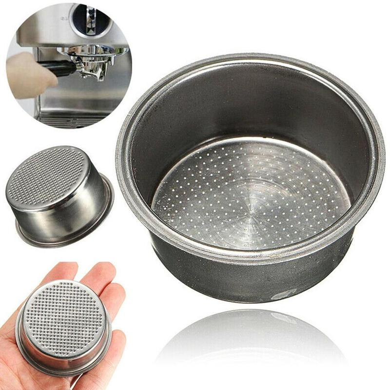 Stainless Steel Coffee Basket Silver Coffee Machine 2 Cup 51mm Non Pressurized Basket