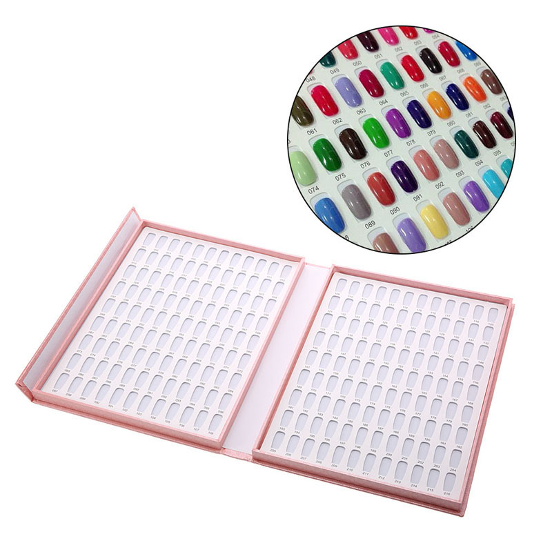 120 color model nail gel Polish color display box book special white nail gel Polish display card chart and tipsA00175XX