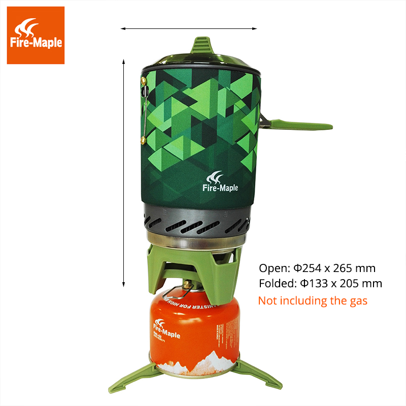Fire Maple Outdoor Gas Stove Burner Personal Cooking System For Hiking Camping Equipment Oven Portable Propane FMS-X2 fire maple personal cooking system outdoor hiking camping equipment oven one piece portable gas stove burner 0 8l 600g fms x3