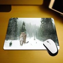 Mairuige The Cool Hadsome Animals Pattern Mousepad Mini Size Pc Table Leopard Jaguar Funny Mouse Pad Mats for Decorate Desktop