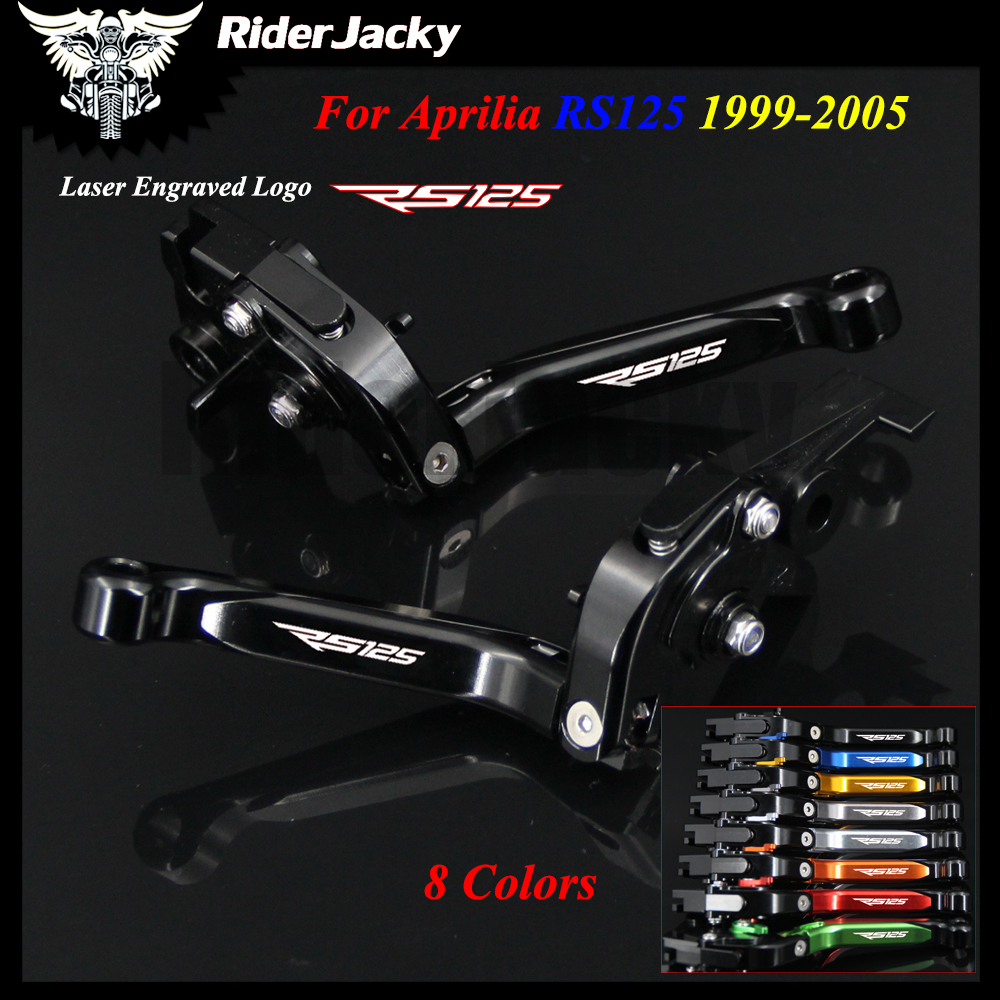 8 Colors Full Black CNC Motorcycle Accessories Adjustable Brake Clutch Levers For Aprilia RS125 RS 125 1999-2005 2002 2003 2004 цены