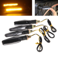 4pcs l Motorcycle LED Turn Signal Light Indicator Blinker Amber Universa 12V Motorbike Lamp Super Bright Easy to Install  E#A3