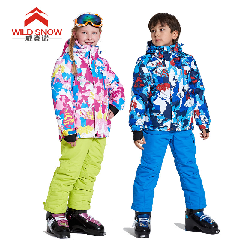 New children's ski suits windproof water repellent breathable breathable warm ski suit ski go мазь держания ski go lf