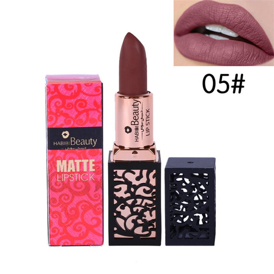 New long lasting matte lipstick HABIBI BEAUTY 1PC Lipstick Cosmetics Women Sexy Lips Matte Lasting Lip Gloss Party Makeup Pretty 9