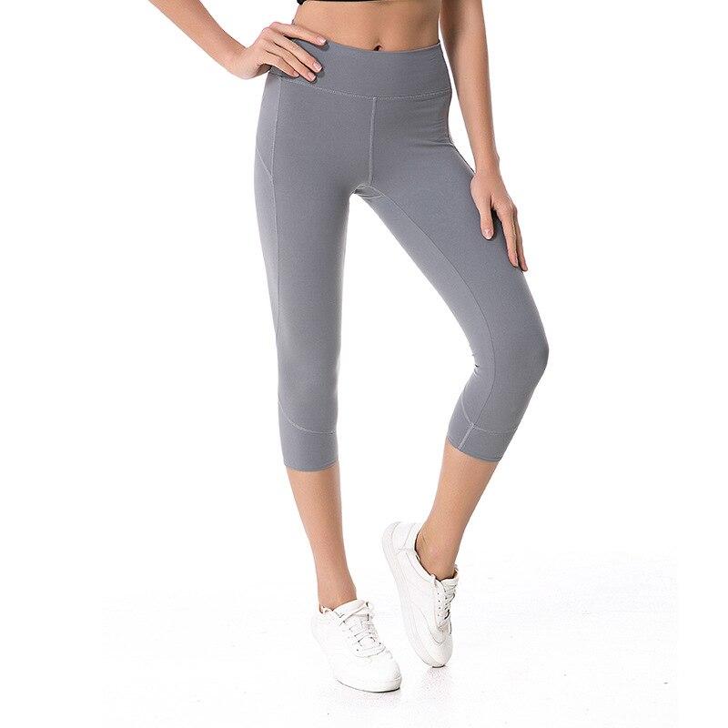 Eshtanga Yoga crop 2018 NWT good quality capris High waist Women Sports leggings Yoga 4-way stretch sports capris Free Shipping