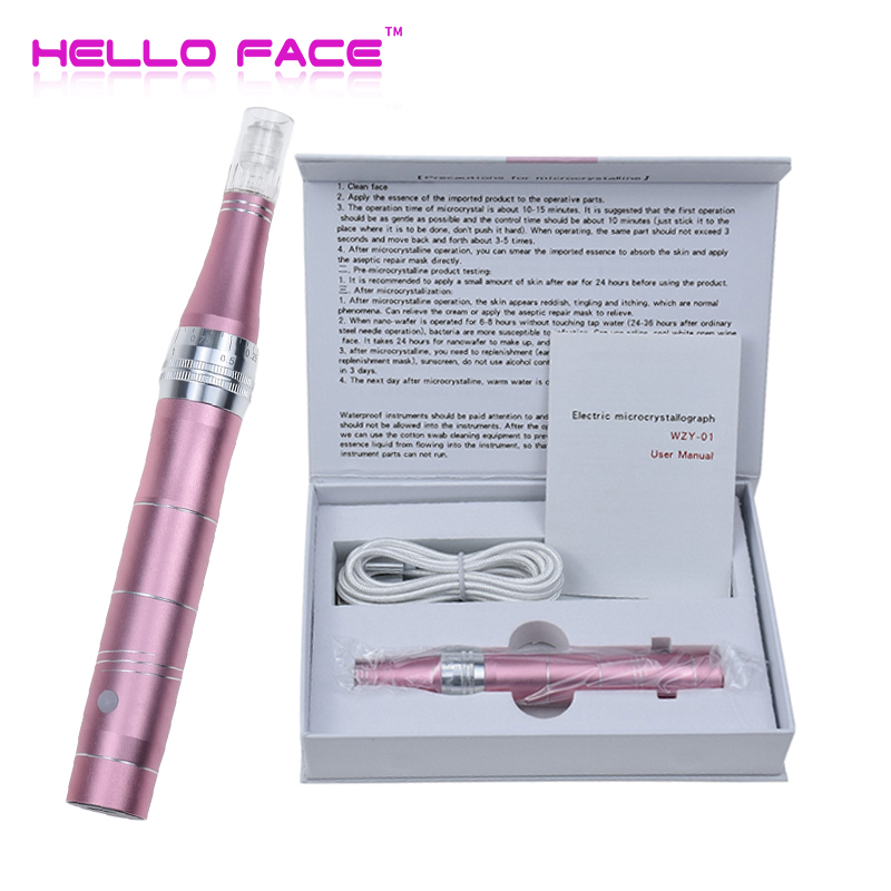 HELLO FACE Derma Pen 5pcs Micro Needle MTS Face Skin Rejuvenation Electric Microneedling Machine Facial Care Tool