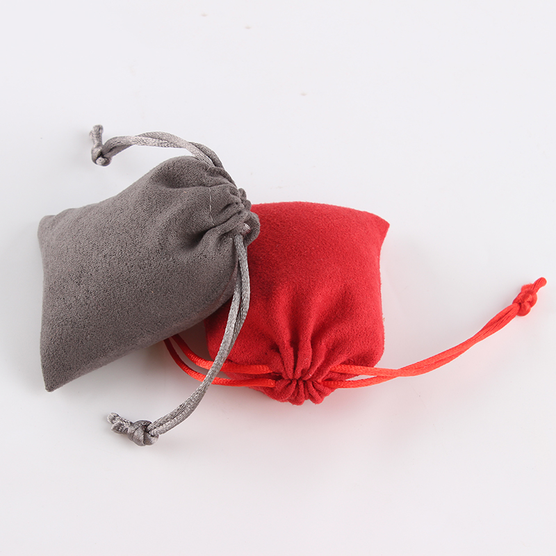 10pcs/lot 7*9 Cm High Quality Suede Drawstring Pouch Packing Bag