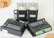 Power Kit! Wantai 2 Axis Nema 23 Stepper Motor Dual Shaft 57BYGH115-003B 425oz-in+Driver DQ542MA 4.2A 50V 125Micro 3D Printer