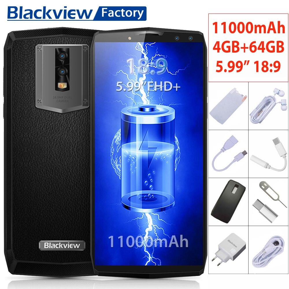 Blackview P10000 Pro Smartphone 4 Cameras 11000mAh battery 4G Mobile phone 5.99″FHD+ Fingerprint ID Cellphone 4GB+64GB Face ID