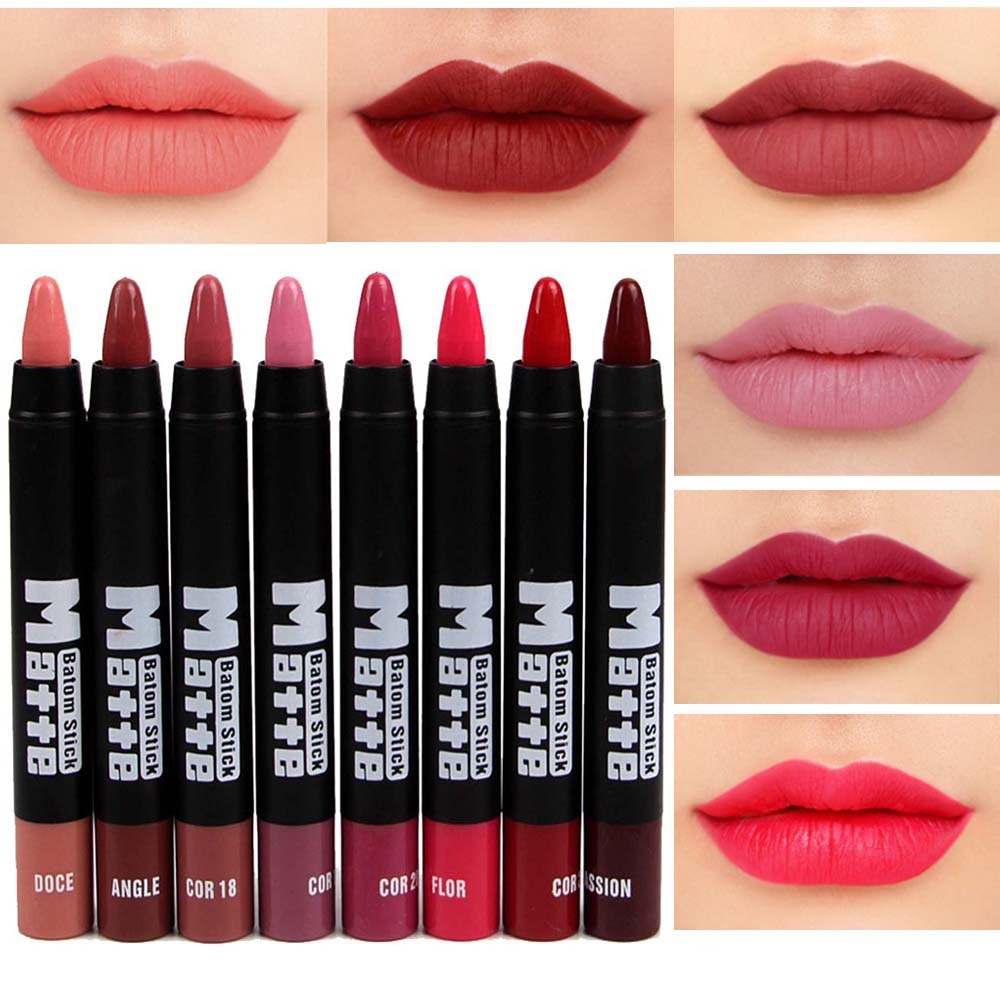 Detail Feedback Questions about Miss Rose makeup matte lipstick waterproof  long lasting velvet nude batom mate lipstick sexy red rouge lip stick MS064  on ... 853c938b1d04