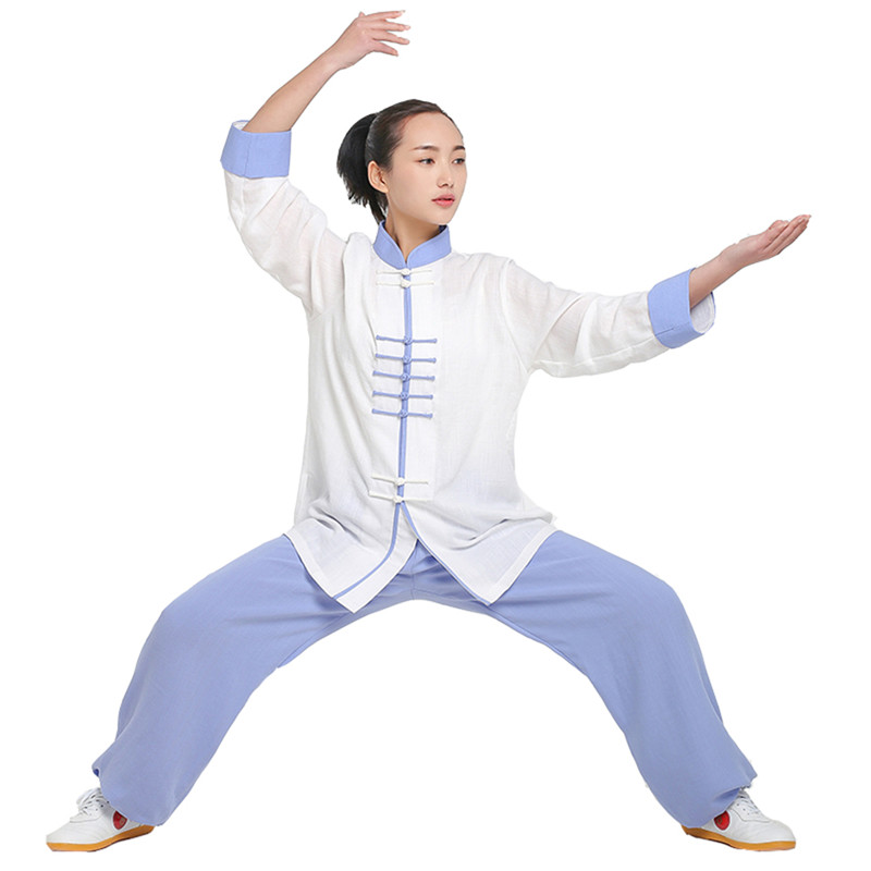 New Design mutil-Colors Long Sleeved  Tai Chi Uniform  KungFu Suit Uniforms i Exercise Clothing Chinese Traditional Clothes tai chi clothes martal art practice uniform linen kung fu suit wing chun uniform china style chinese clothing