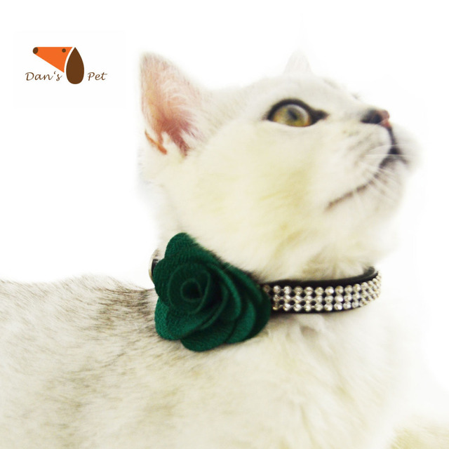 Top Bow Tie Bow Adorable Dog - Cute-Fancy-Rhinestone-Leather-Flower-Bow-Tie-Pet-Dog-Cat-Collar-Necklace-Personalized-Hand-Made-Collar  Gallery_577751  .jpg
