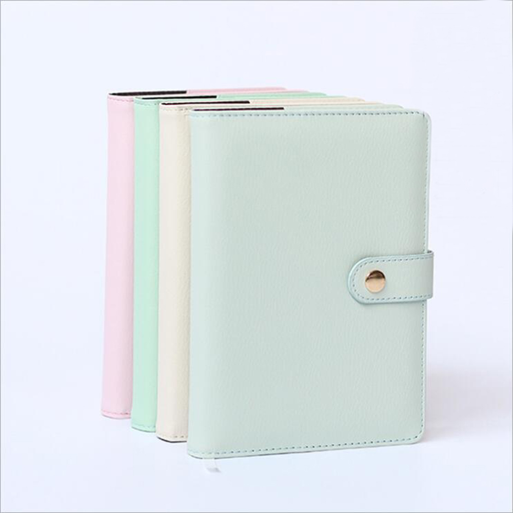 Creative A5 Faux Leather Grid Fitted Filler Papers Notebook Office School Stationery Noted Supplies Daily Memos Planner Book a5 retro scrub leather notebook filofax business notebook personal creative notebook office portable stationery supplies