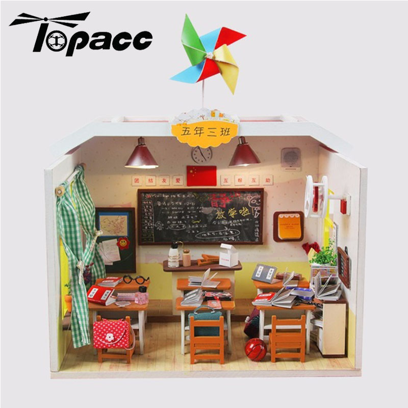 Assemble Diy Dollhouse Kit Graduation Deskmate Classmate Collection Decoration With Led Light Friend Kids Student Gift M017 Cleaning The Oral Cavity. Toys & Hobbies