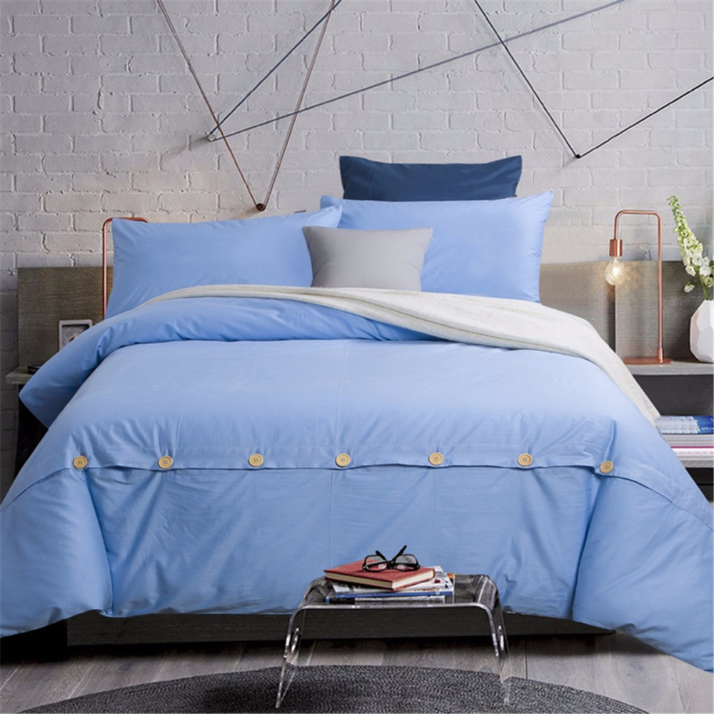 designer cheap polyester quilt bedding set solid bed duvet cover set 4 pieces full double queen size high quality for sale