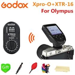 Godox Xpro-O TTL 2.4G X system HSS Wireless Flash Transmitter + XTR-16 For Olympus Pansonic Lumix Godox V860II-O TT685-O TT600