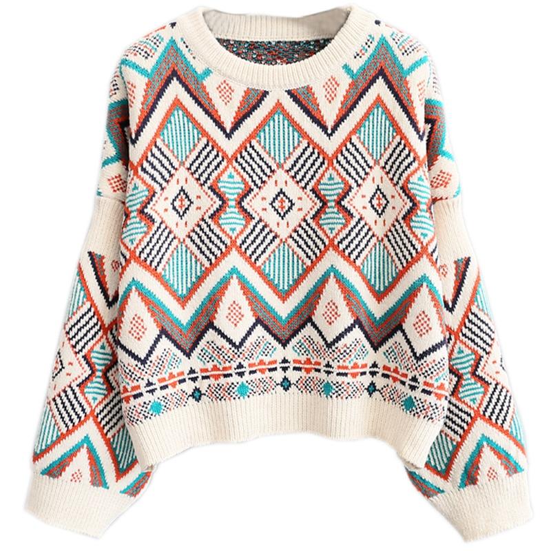 2018 Herbst Winter Kurze Pullover Frauen Pullover Oansatz Lose Mode Gestrickte Pull Outwear Tops