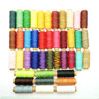 6pcs/set 50m 150D Woven 1mm Flat Wax Thread for DIY Leather Hand-Stitching Sewing Craft Leather DIY Material Sewing Thread Set