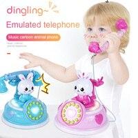 Горячая продажа 1 шт. симпатичная игрушка телефон моделирование играть с музыкальным освещением телефон раннего образования для детей