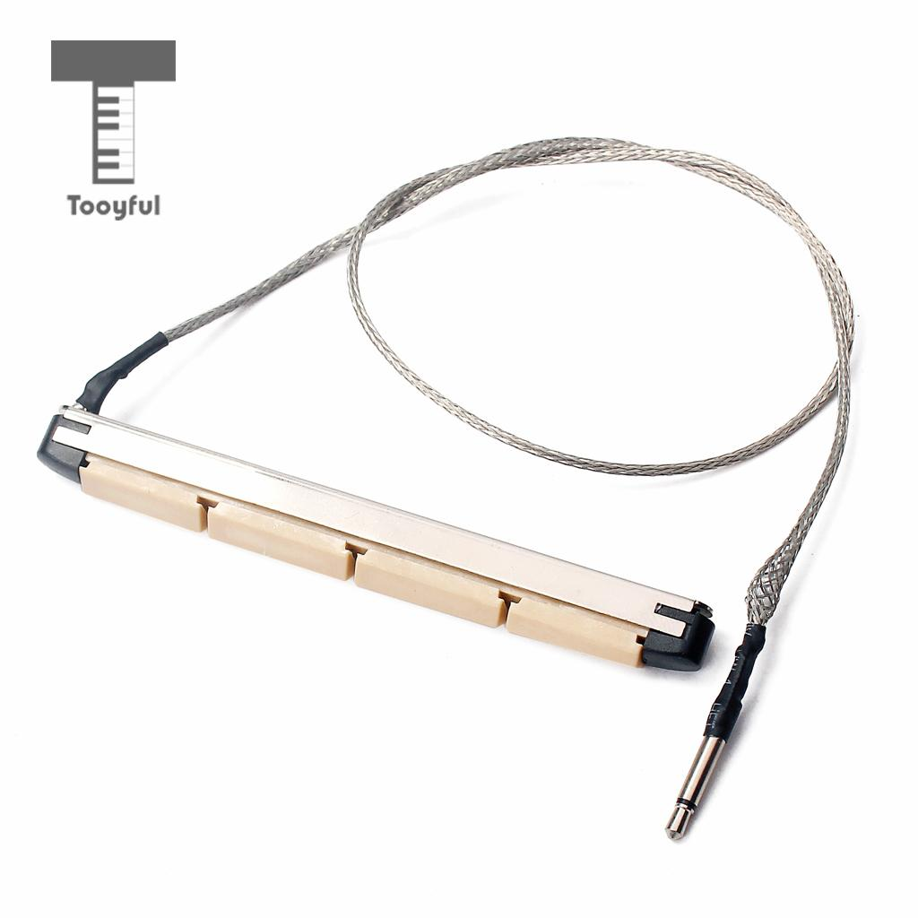 Tooyful Under Saddle Transducer Pickup Imported Piezo Electric Bar Folk Acoustic Sticks for 4 String Acoustic Bass Guitar Parts 10pcs set 1 4 inch metal guitar jack socket connector female panel mount for acoustic electric bass guitar parts