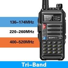 2019 BaoFeng UV-S9 трехдиапазонный 8 Вт 2 шт. антенна УКВ UHF 136-174 МГц/220-260 МГц/400-520 МГц 10 км Long Range Портативный портативная рация