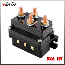 Vspan 500A 12V Winch Solenoid Relay Controller 500A DC Switch 4WD 4x4 Offroad Boat ATV Control For Jeep/Toyota ETC Winch Parts h 500a