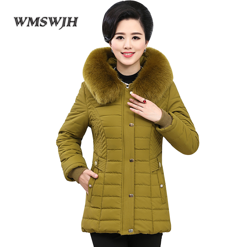 À Femmes Parkas 4xl Parka mei Longue Survêtement 2018 Mère Veste Femelle Chaud De red La Col Plus D'hiver Red dark Taille Manteau Fourrure Capuchon Green Épaissir Yellow pqxEtw0x