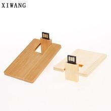 XIWANG can be customized LOGO wood mini card pendrive flash drive 2.0 4GB 8GB 16GB 32GB 64GB creative gift U disk memory stick