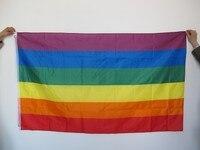Aerlxemrbrae радужный флаг 3x5 футов Полиэстер Флаг Гей Гордость мира Флаги лесбиянок гордость мирные вымпелы флаг