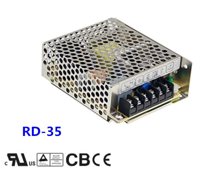 Free shipping 1pc  RD-35B  35w 5v 2.2A Dual Output Switching Power Supply резистор kiwame 2w 30 ohm