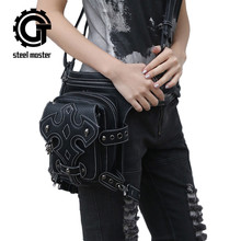 Steelmaster New multi-functional Outdoor Retro Rock Skull Mini Fshion Male Shoulder Bag and Cell Phone pockets Women Waist Bag купить дешево онлайн