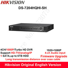 Hikvision Original English Turbo HD DVR DS-7204HQHI-SH Support HD-TVI/Analog/IP Camera 4ch 1HDD Full channel@1080P real-time