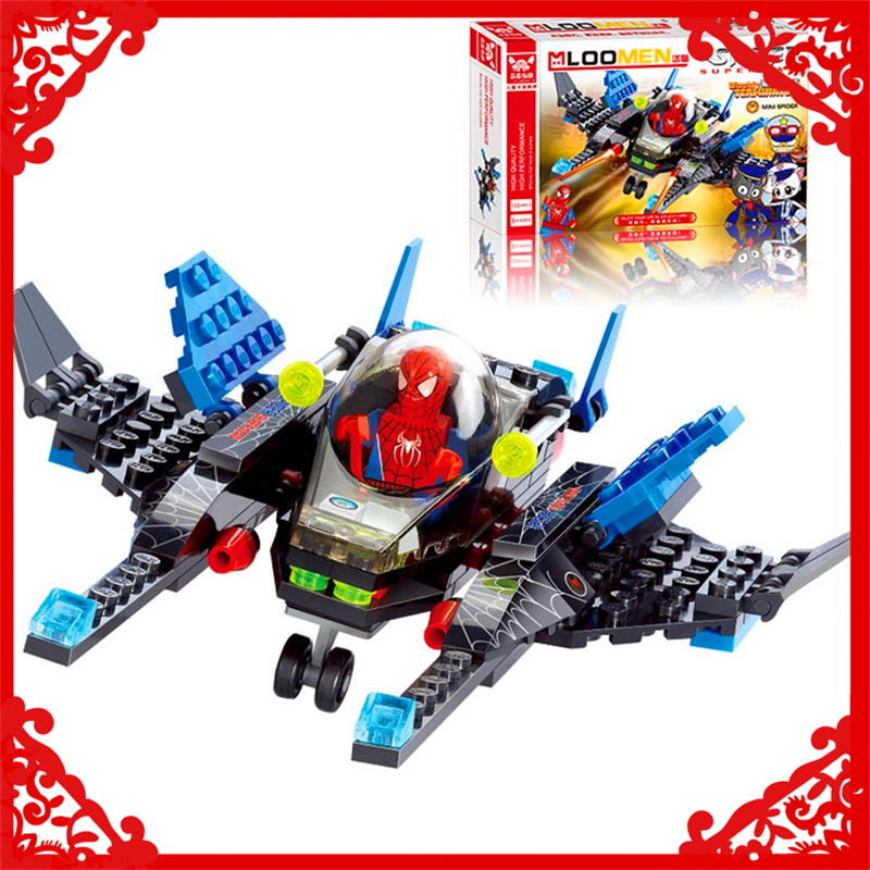 KAZI 6002 Batman Spiderman Fighter Model Building Block 133Pcs DIY Educational  Toys For Children Compatible Legoe decool 7118 batman chariot super heroes of justice building block 518pcs diy educational toys for children compatible legoe