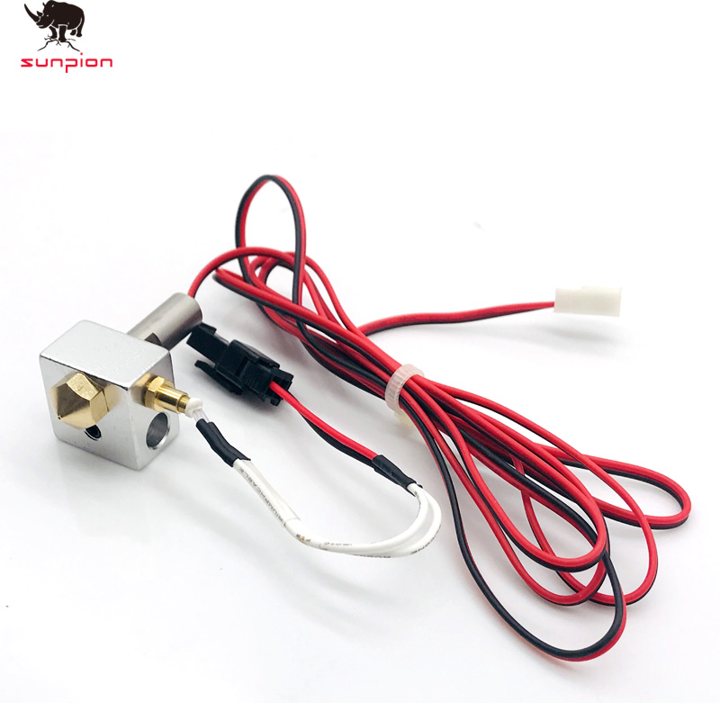 MK10 Printer Parts Hotend Kit 0 .4mm Copper Nozzle M7 Thread Heatbreak With PTFE Teflon+Thermocouple Fixing Screws NTC100K3950