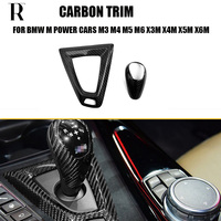 Carbon Fiber Interior Gear Shift Knob Decorative Trim Cover for BMW F80 M3 F82 F83 M4 F10 M5 F12 F13 F06 M6 X3M X4M X5M X6M