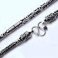 Долголетие ожерелье ручной работы старинные серебро 990 тибетских ом ожерелье чистого серебра тибетский ом мантра человек ожерелье