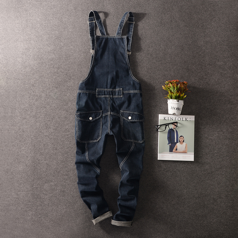 M-3XL!!!  2017   British conjoined suspenders Personality man tooling overalls Cultivate one's morality little cowboy men's tro little history of british gardening