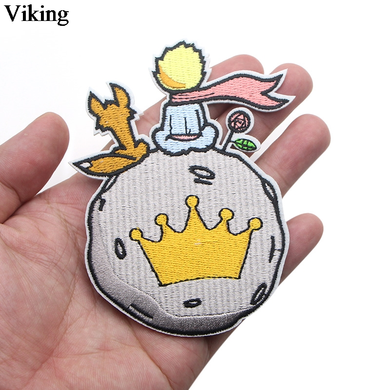 Creative Le Petit Prince Kawaii Patch Cartoon Iron On Patches Diy Bags Shirt Accessories Cute Sewing Embroidered Patches G0004 in Patches from Home Garden